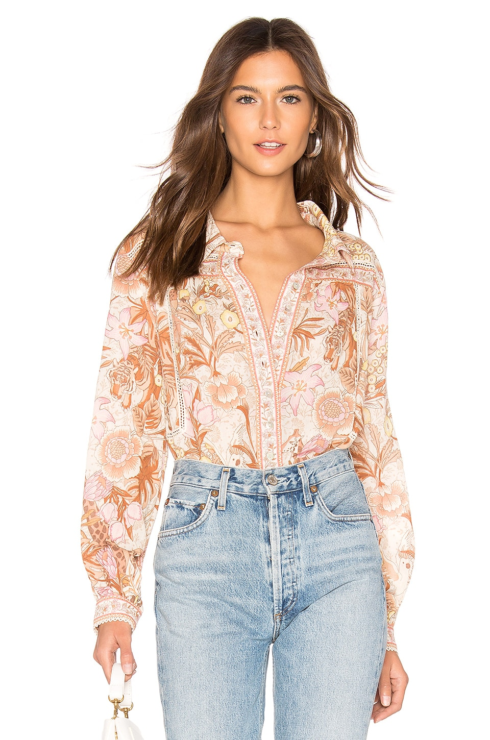 Spell & The Gypsy Collective Jungle Blouse in Cream