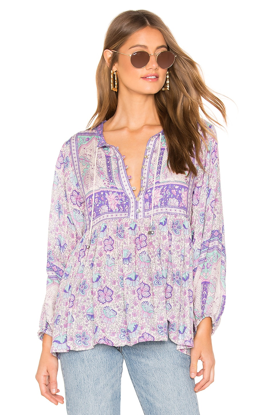 Spell & The Gypsy Collective Poinciana Blouse in Lilac