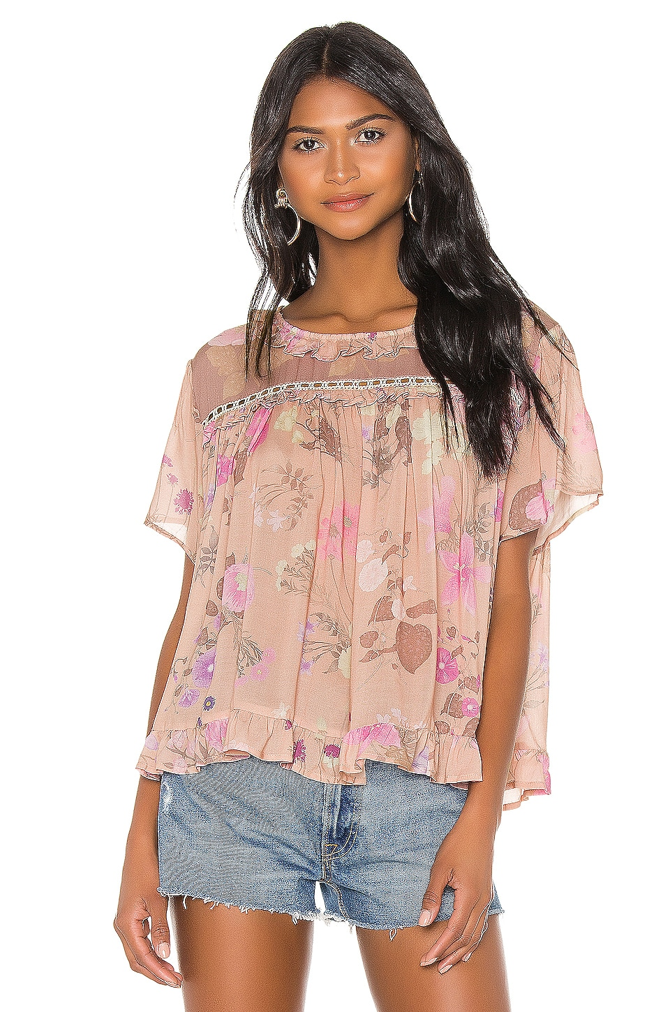 Spell & The Gypsy Collective Wild Bloom Top en Blush