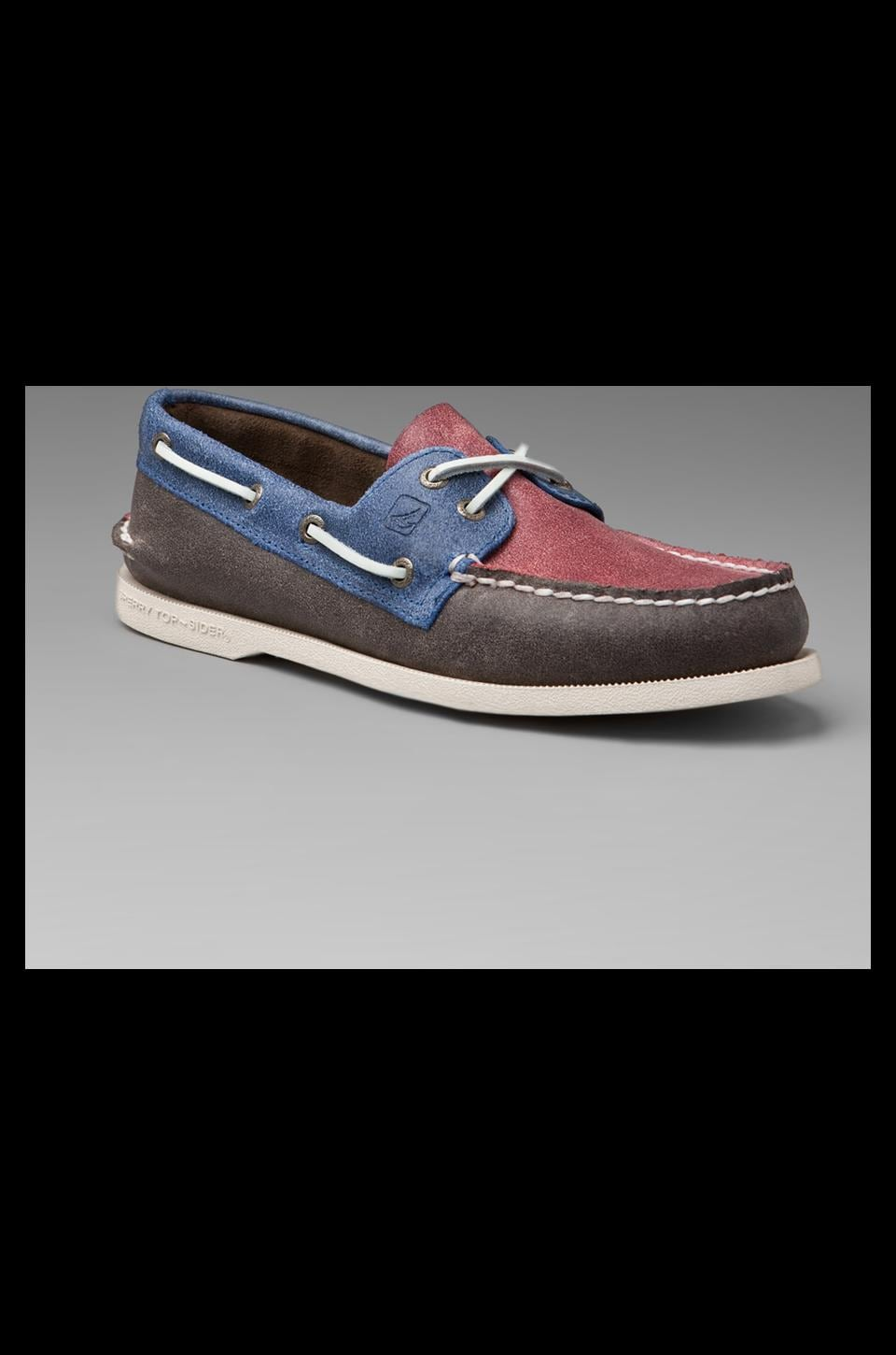 Sperry Top-Sider Salt Stained A/O in Blue/Brown/Red