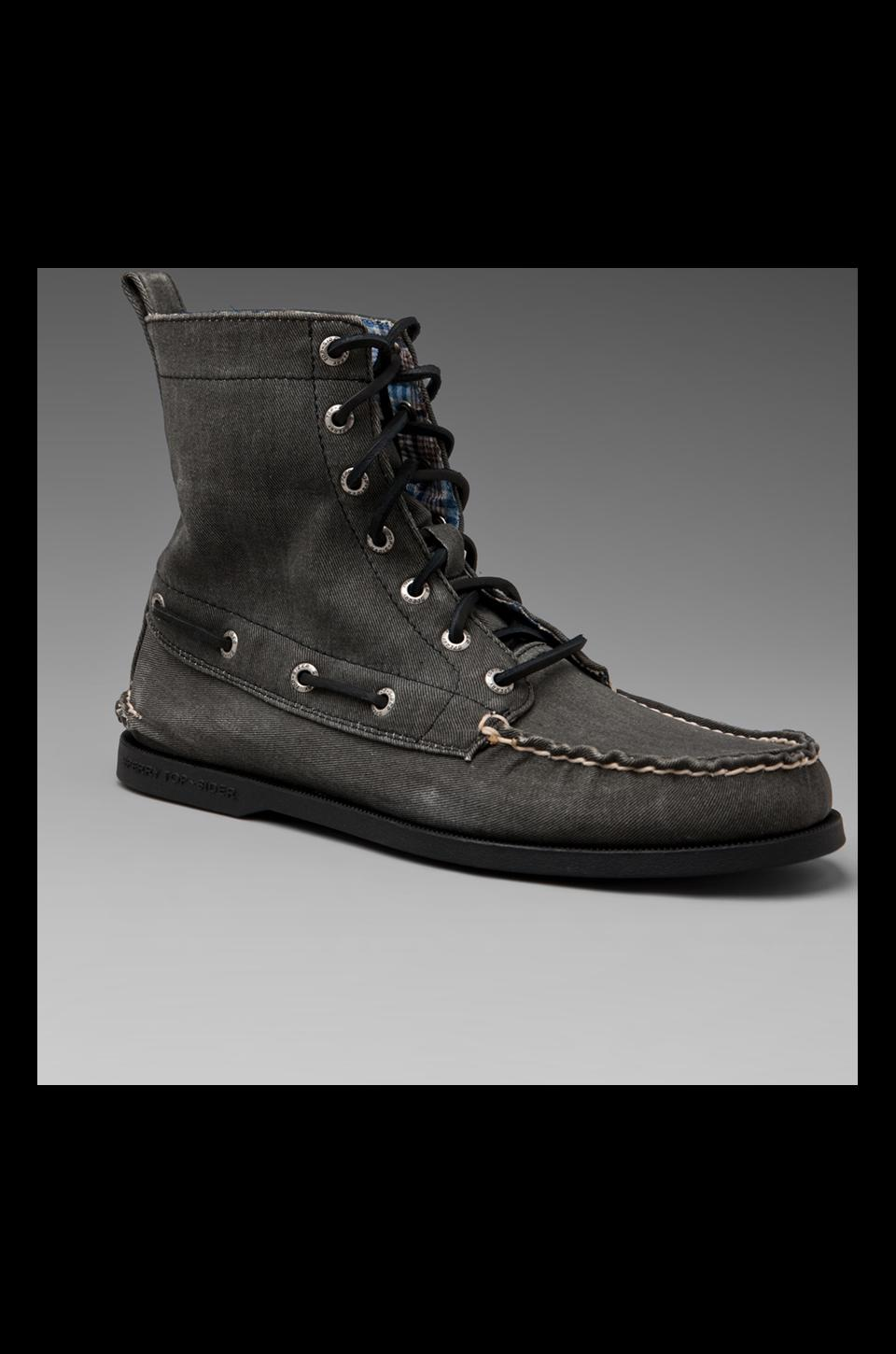 Sperry Top-Sider A/O 7-Eye Boot in Black Canvas