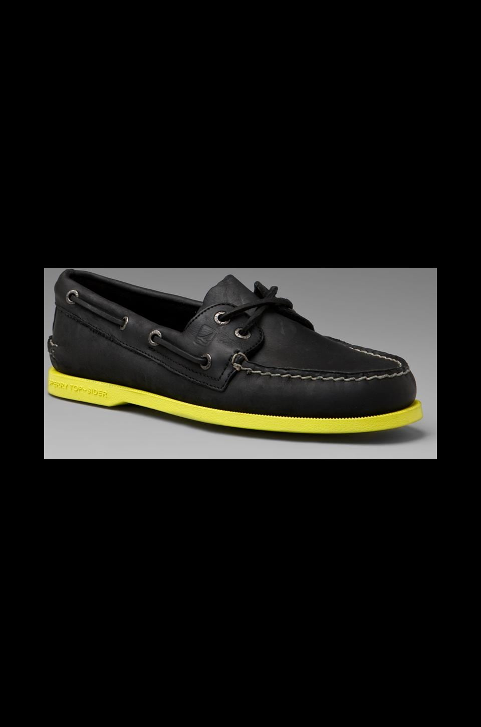Sperry Top-Sider Cloud Collection Neon A/O in Black/Yellow