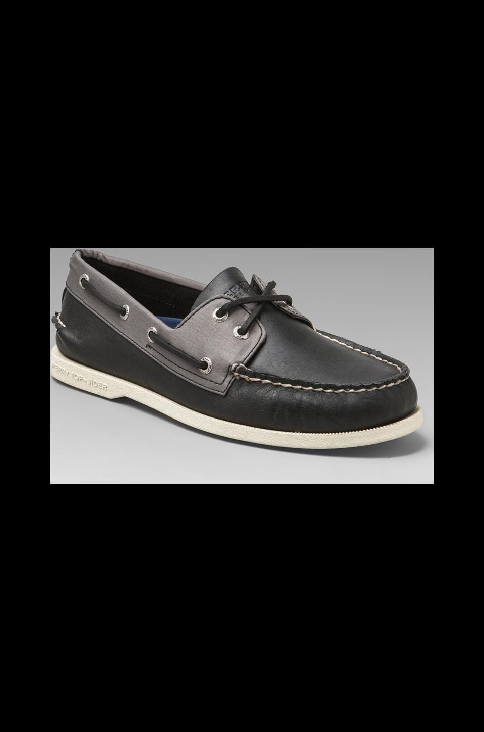 Sperry Top-Sider A/O 2-Eye in Black/Grey Nylon