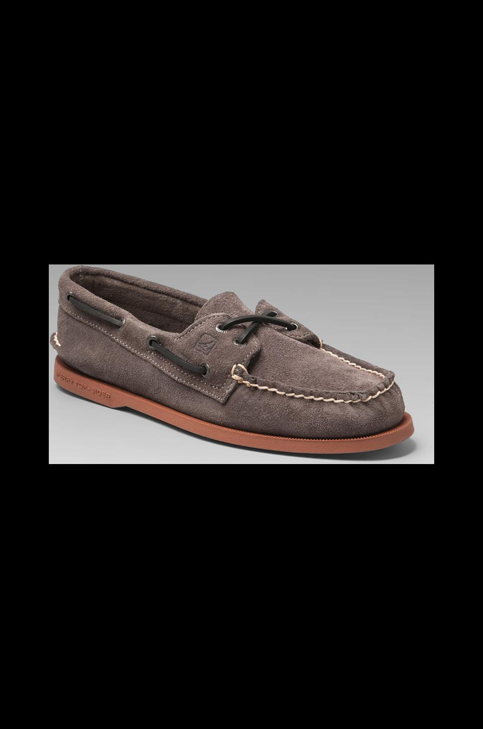 Sperry Top-Sider A/O 2-Eye in Grey Suede