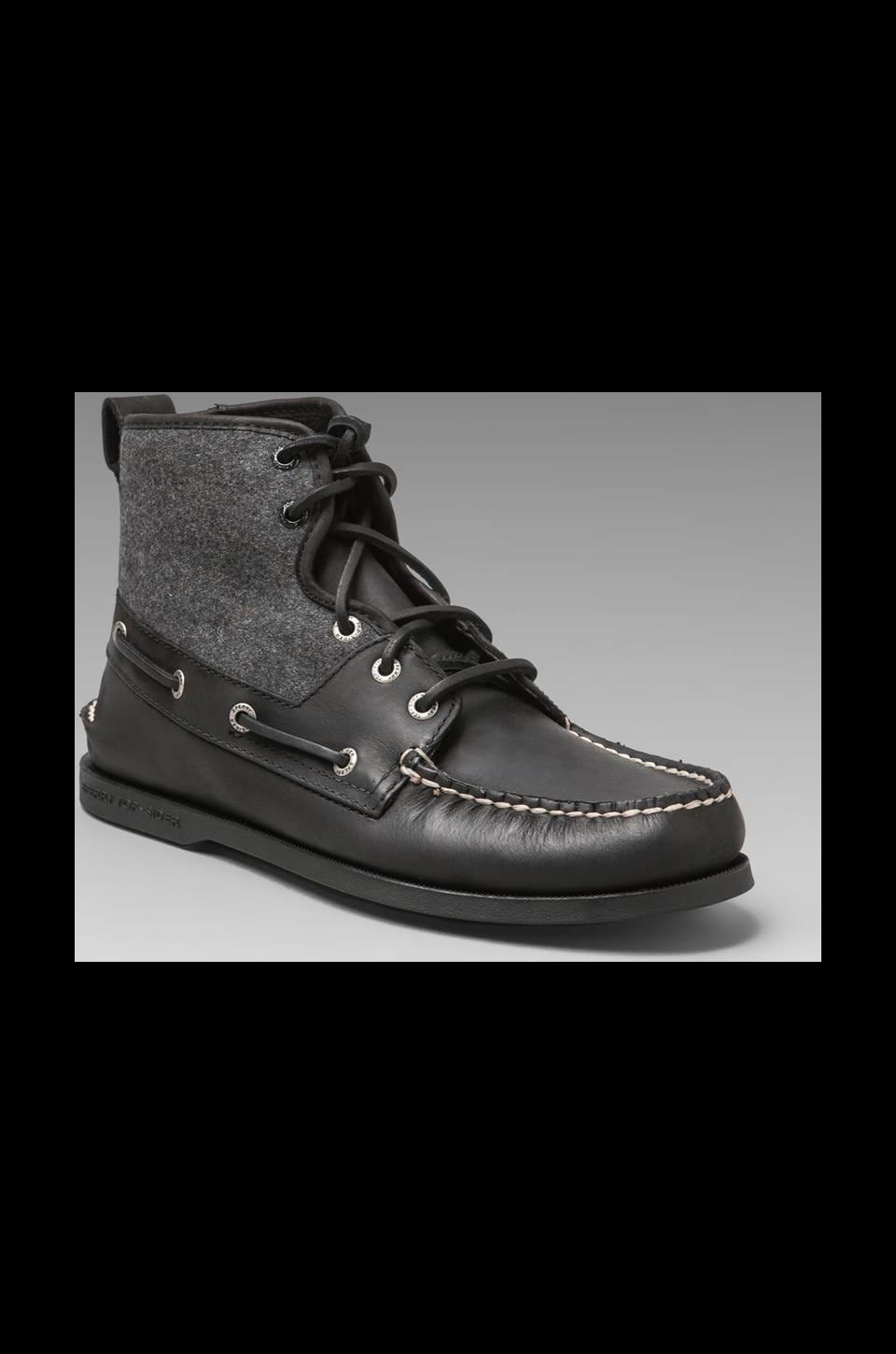 Sperry Top-Sider A/O Sport Boot in Black/Grey Wool