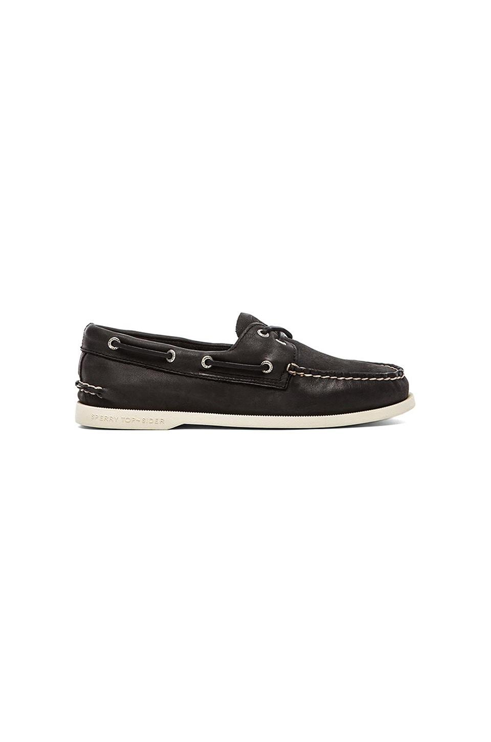 Sperry Top-Sider Cloud Collection A/O 2-Eye in Black Relaxed Leather