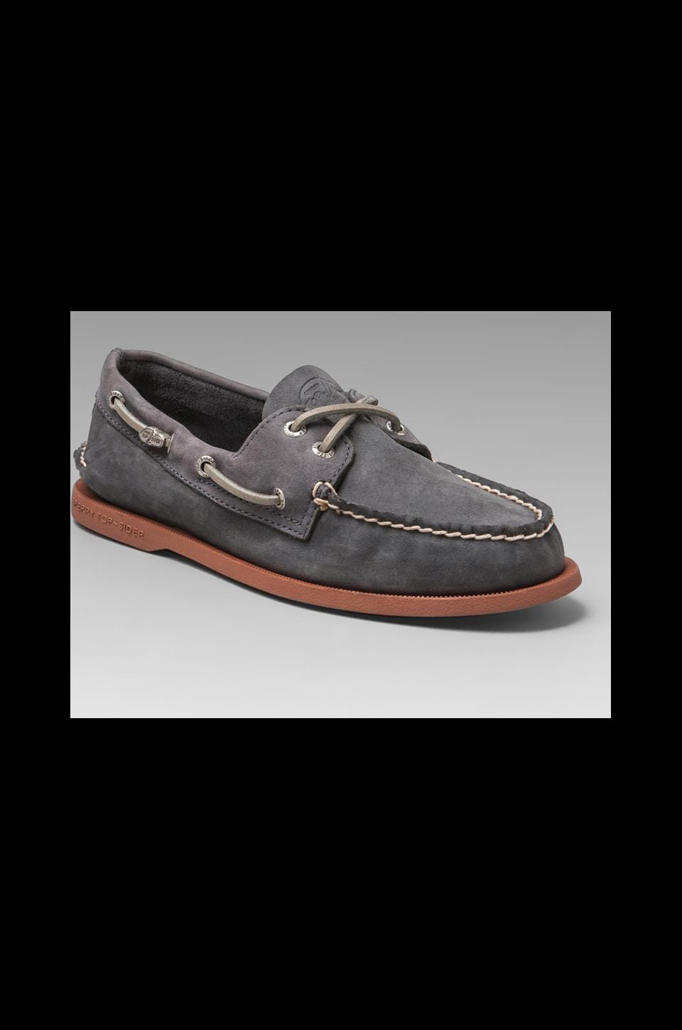 Sperry Top-Sider Cloud Collection A/O 2-Eye Relaxed Leather in Steel/Grey