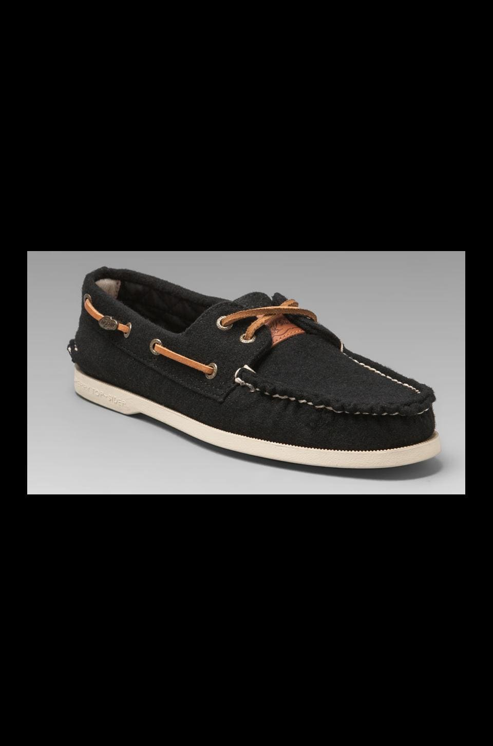 Sperry Top-Sider x Fidelity A/O in Navy Wool