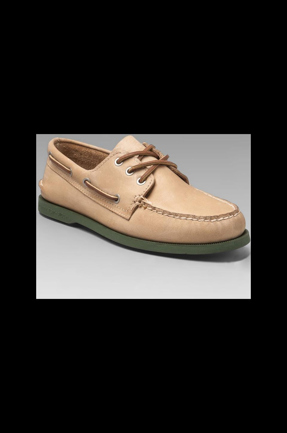 Sperry Top-Sider Silvercloud Collection A/O in Oatmeal/Rifle Green