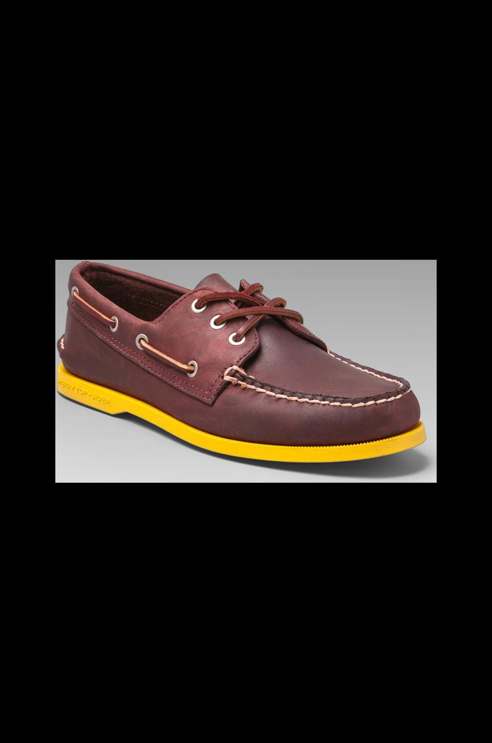 Sperry Top-Sider Silvercloud Collection A/O in Oxblood/Brilliant Yellow