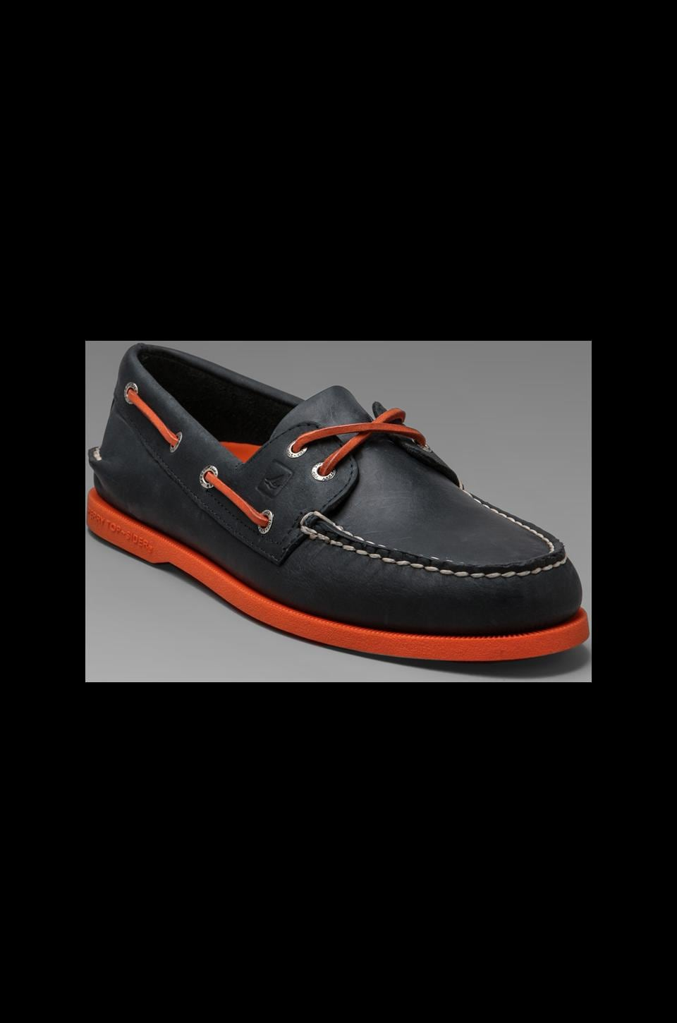 Sperry Top-Sider A/O 2-Eye Neon in Navy/Neon Orange