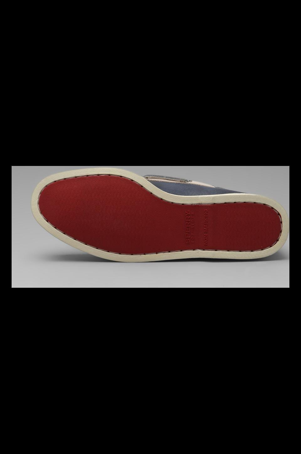 Sperry Top-Sider A/O 2-Eye Burnished in Dark Blue/Red/Cement