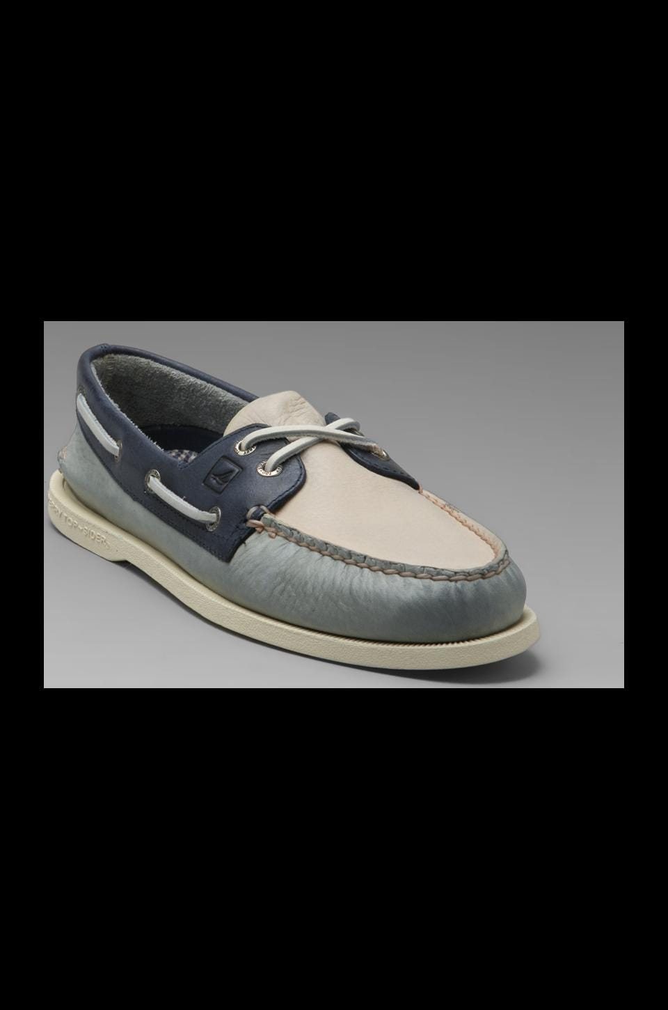 Sperry Top-Sider A/O 2-Eye Burnished in Cool Grey/Cement/Dark Blue