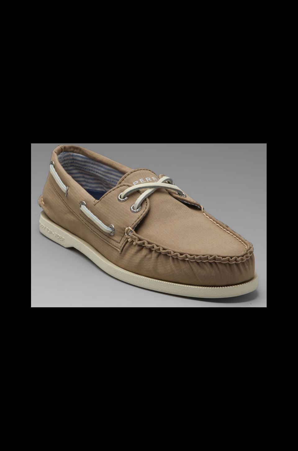 Sperry Top-Sider A/O 2-Eye Canvas in Taupe Canvas