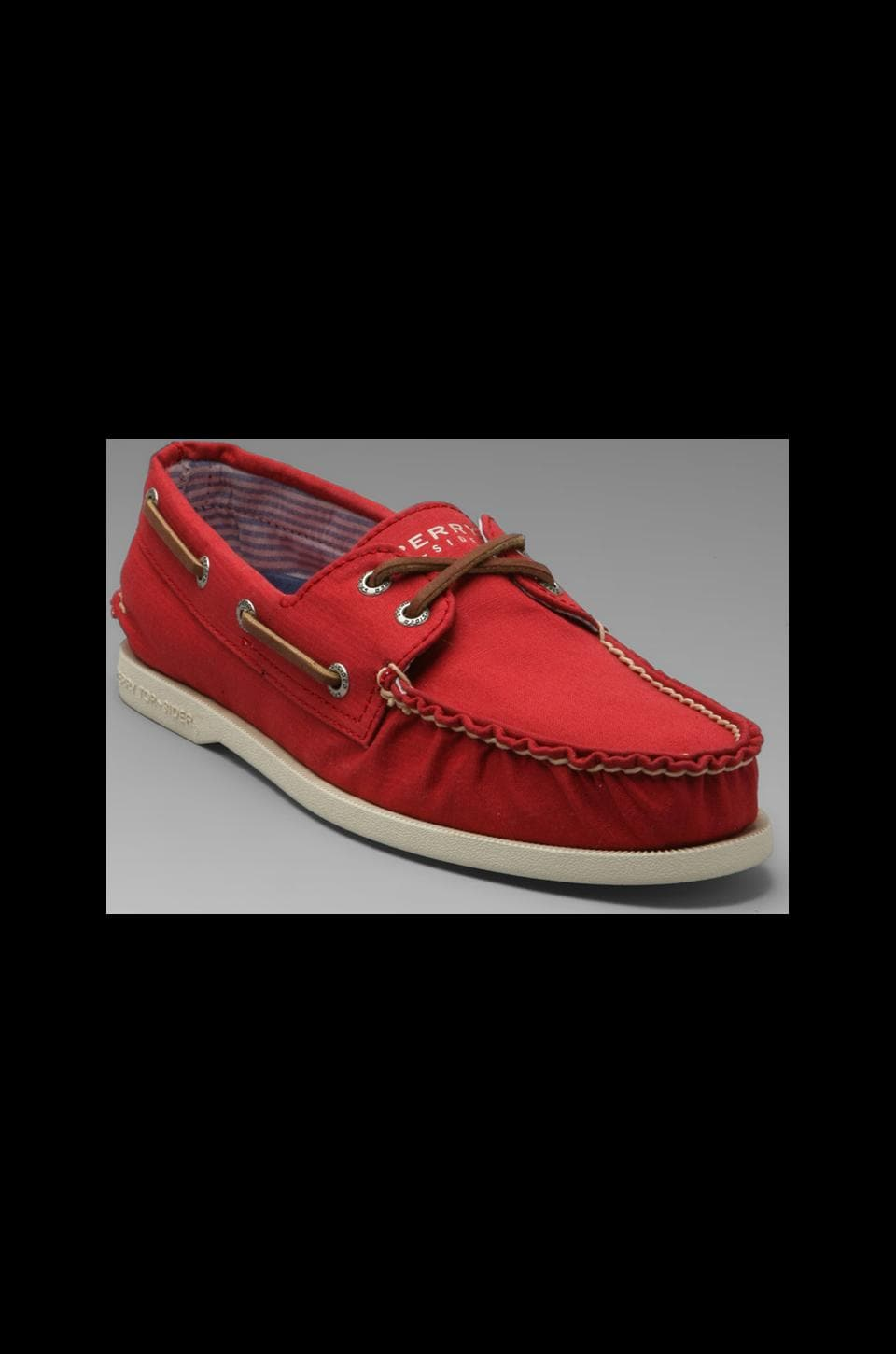 Sperry Top-Sider A/O 2-Eye Canvas in Red