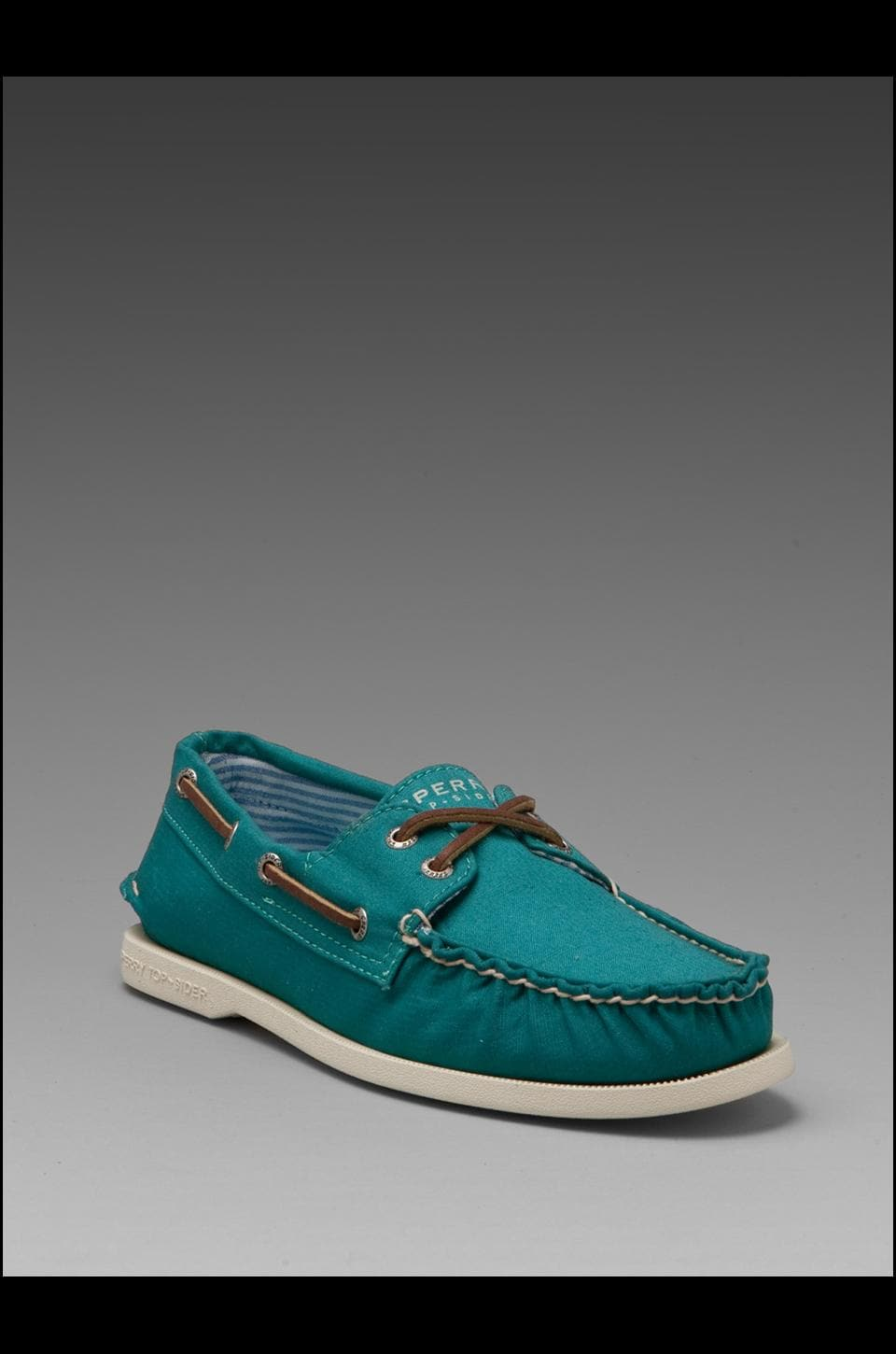 Sperry Top-Sider A/O 2-Eye Canvas in Turquiose