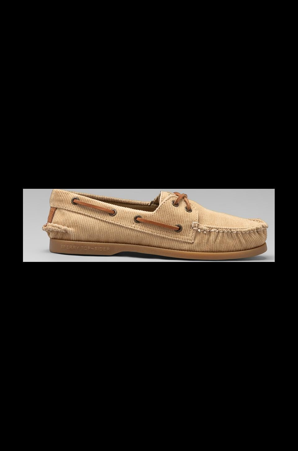 Sperry Top-Sider A/O 2-Eye Corduroy in Khaki