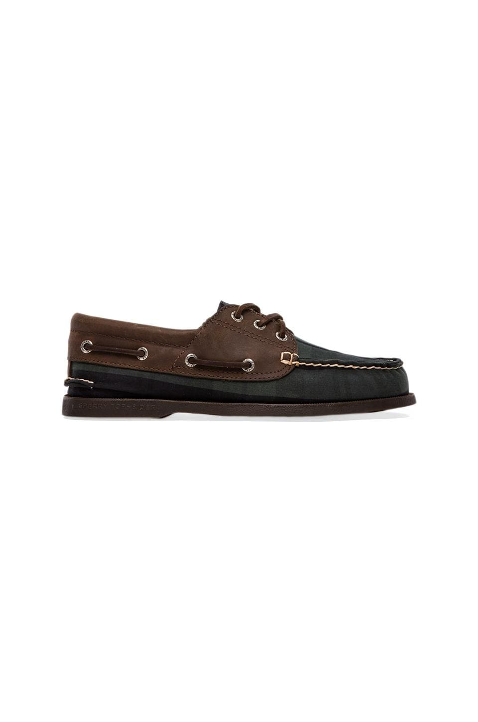 Sperry Top-Sider A/O 3-Eye Padded Collar in Blackwatch Oil Cloth