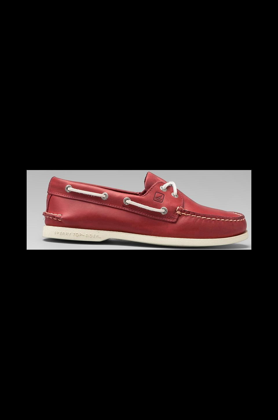 Sperry Top-Sider A/O 2-Eye in Red