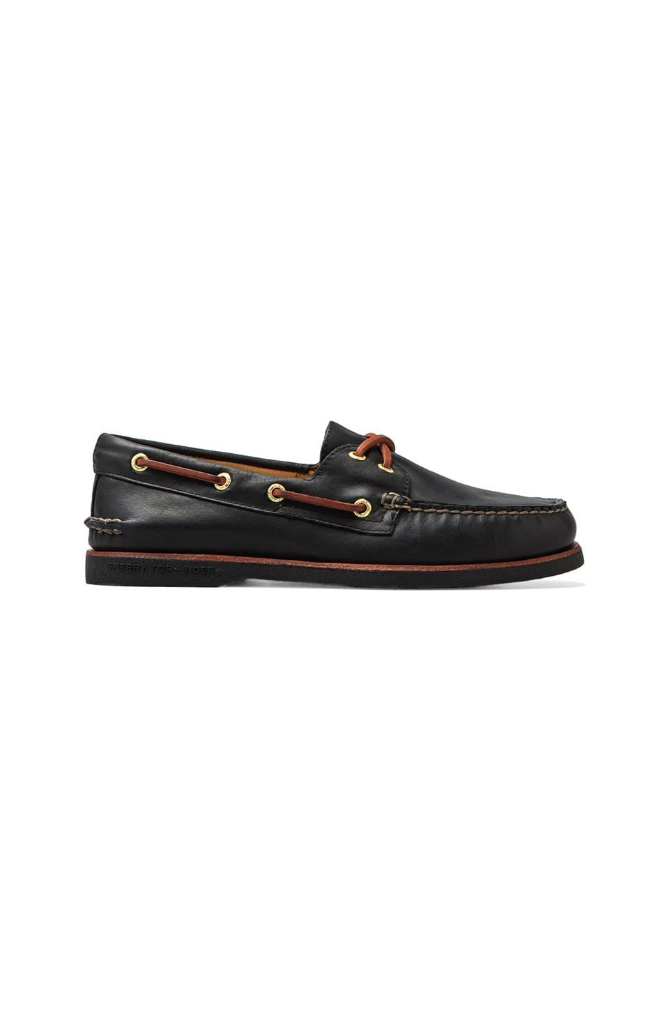 Sperry Top-Sider Gold A/O 2-Eye in Black