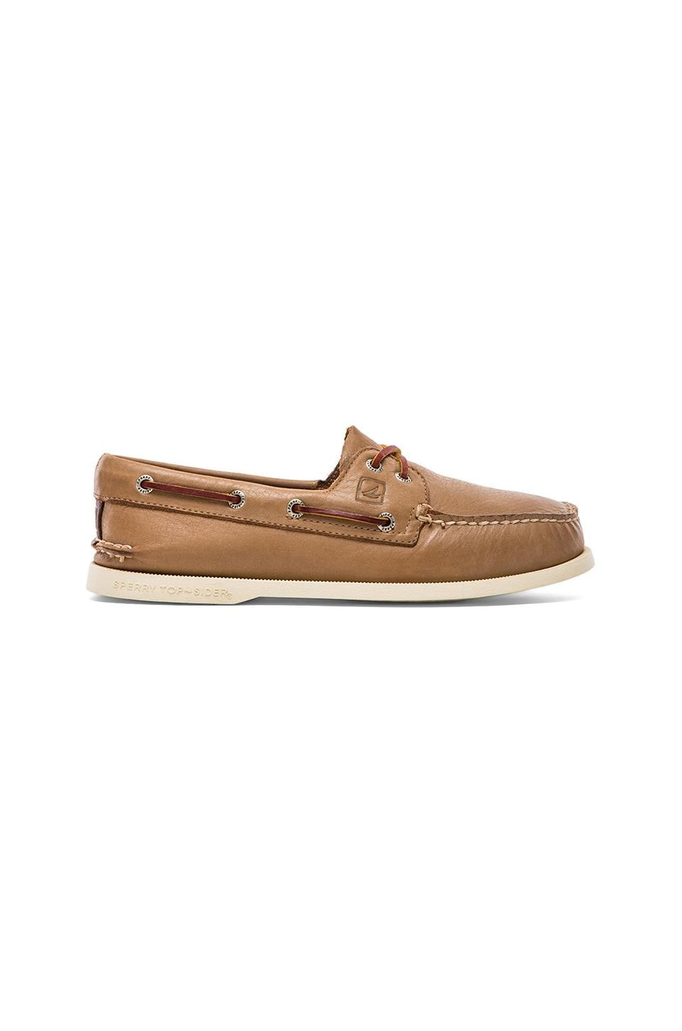 Sperry Top-Sider A/O 2-Eye Burnished in Tan