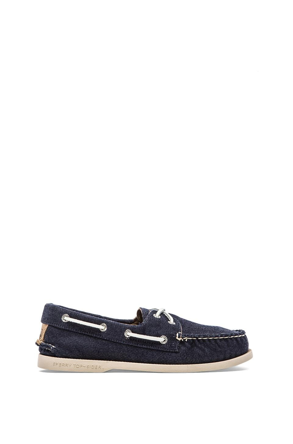 Sperry Top-Sider A/O 2-Eye Soft Canvas in Navy