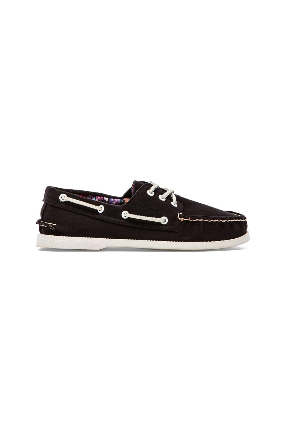 Sperry Top-Sider A/O 3-Eye Canvas in Black