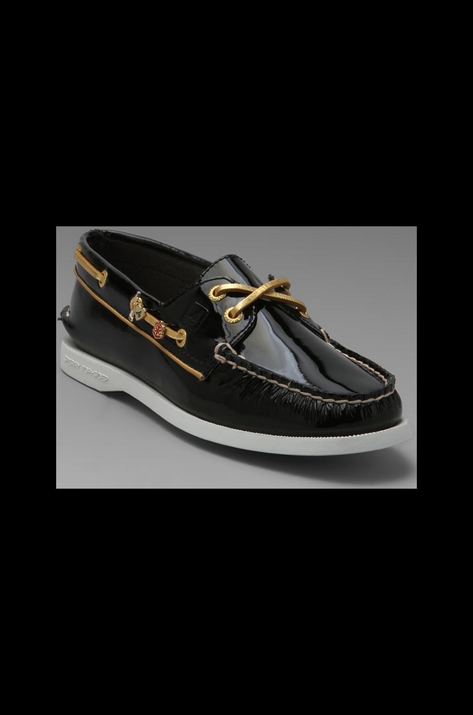 Sperry Top-Sider 2-Eye in Black Patent
