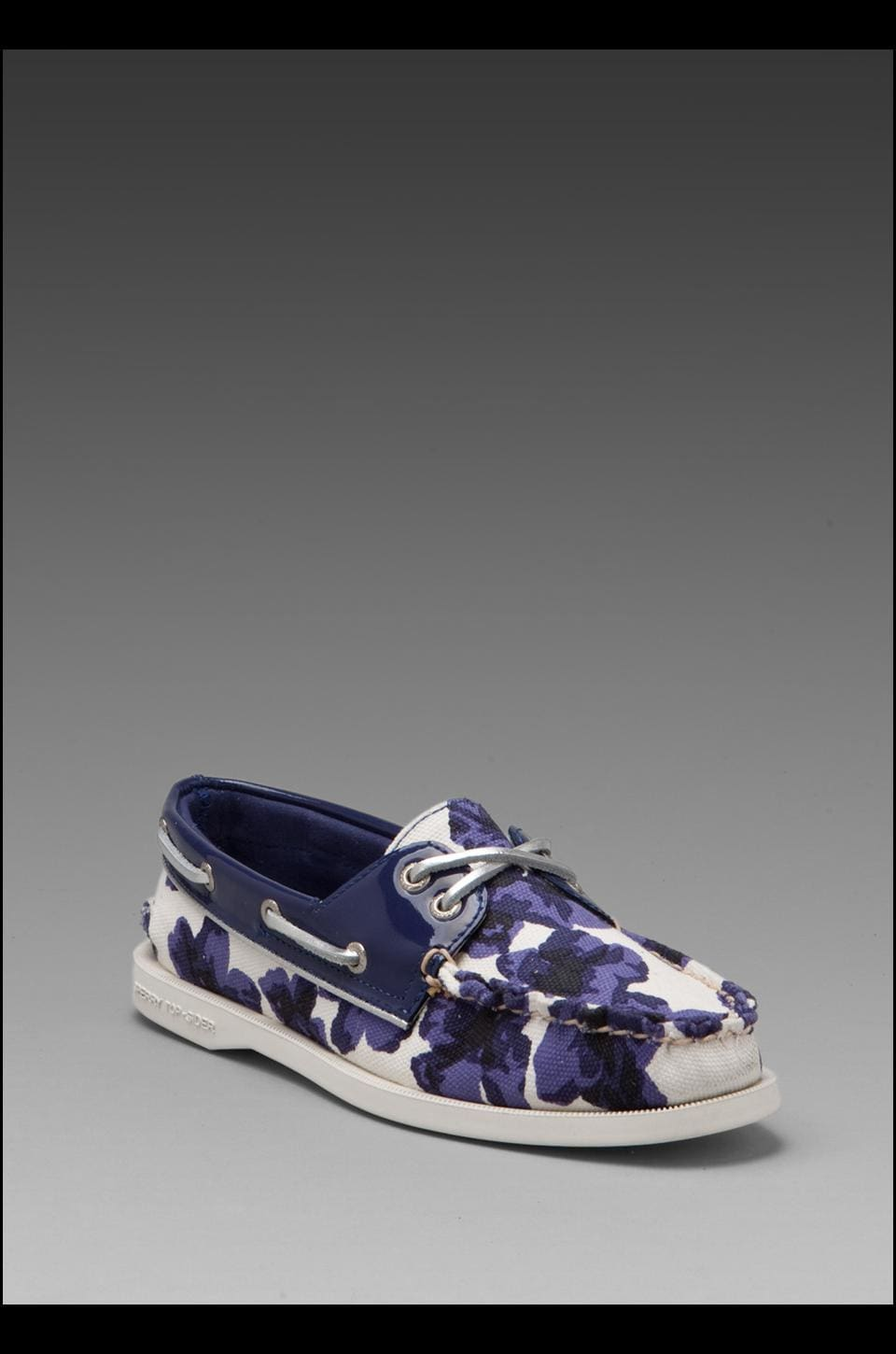 Sperry Top-Sider 2-Eye in Blue Floral Print