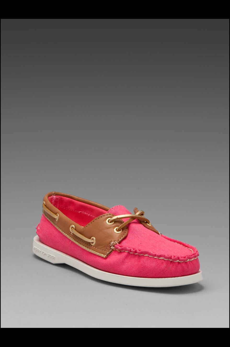 Sperry Top-Sider 2-Eye in Bright Pink Salt Wash