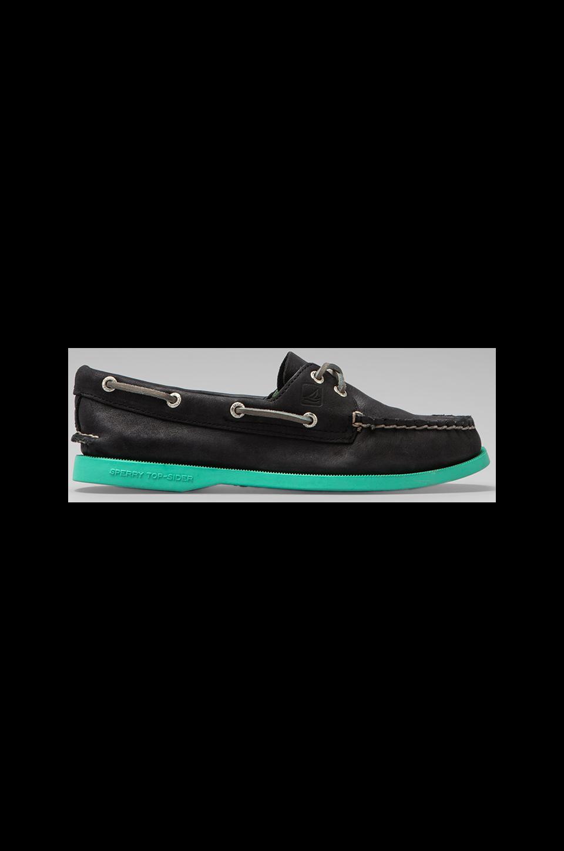 Sperry Top-Sider A/O 2-Eye in Black/Jade