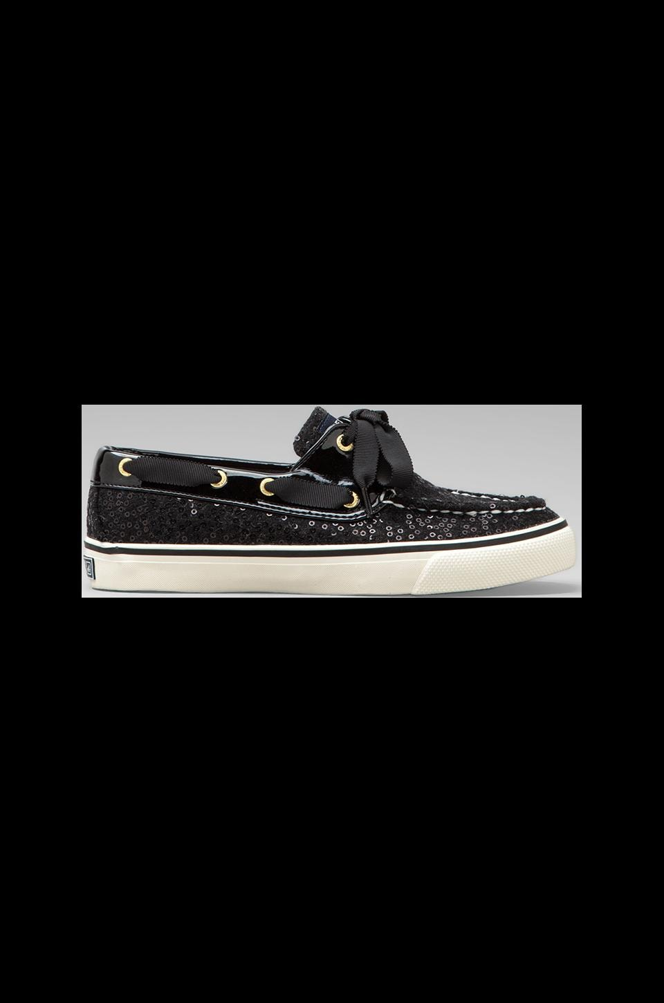 Sperry Top-Sider Bahama 2-Eye in Black Sequins