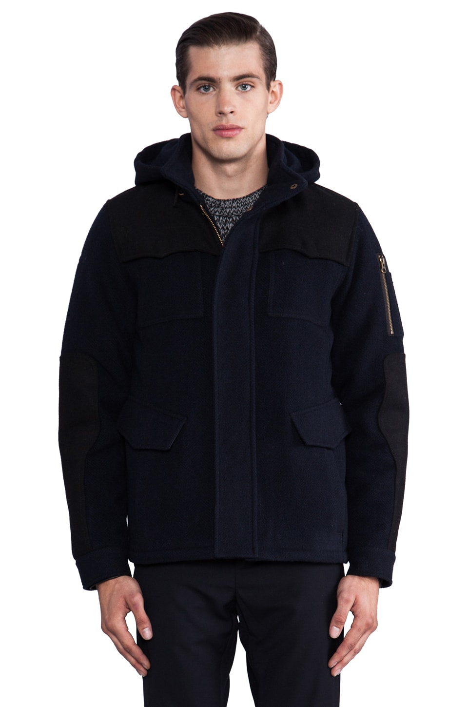 Spiewak Broome Field Jacket in Navy/ Black