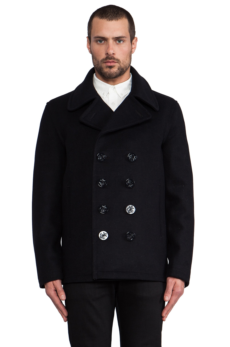 Spiewak Dugan Pea Coat in Navy