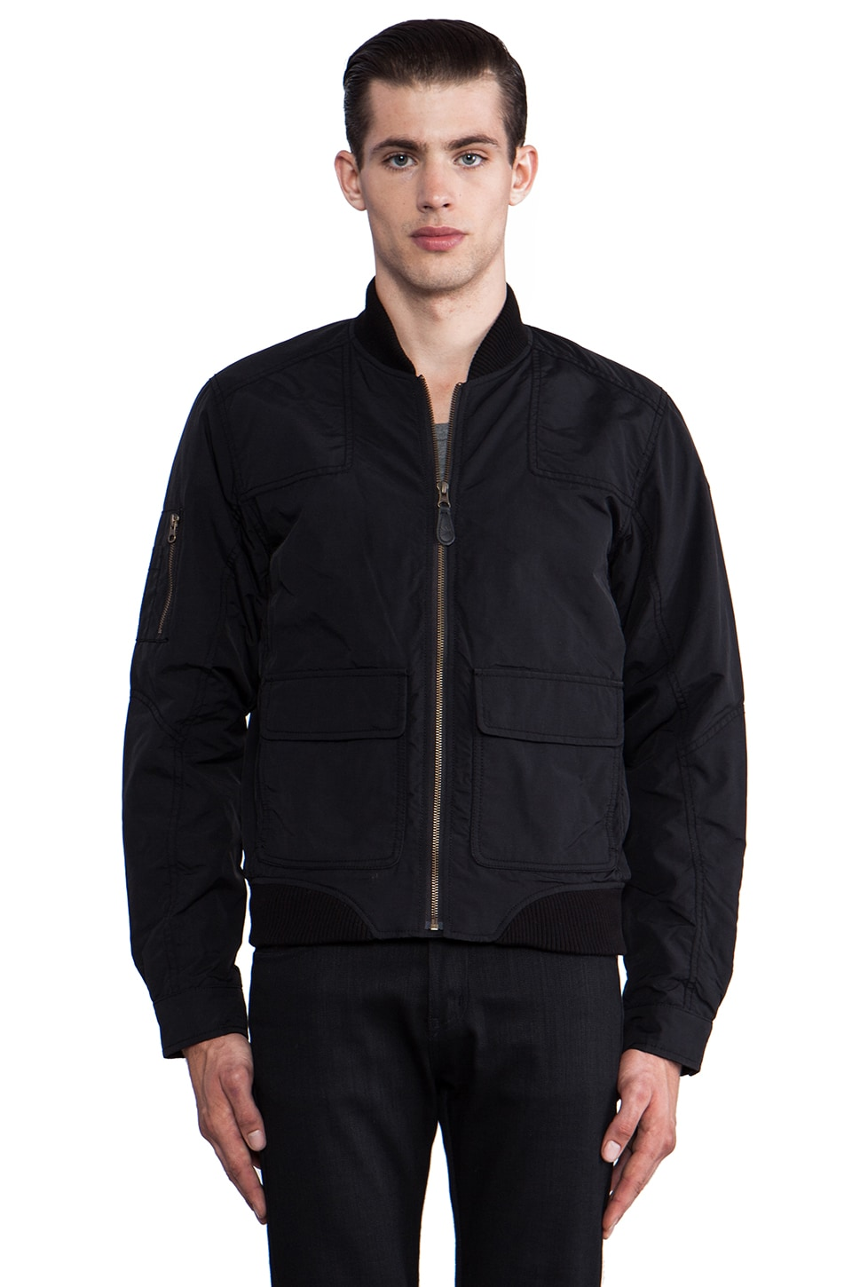 Spiewak Putnam Flight Jacket in Black