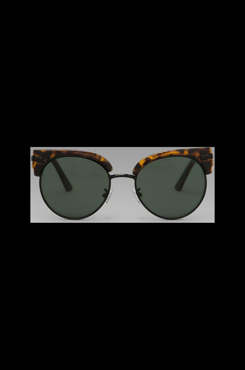 Spitfire London Weather in Tortoise Shell & Black w/ Dark Green