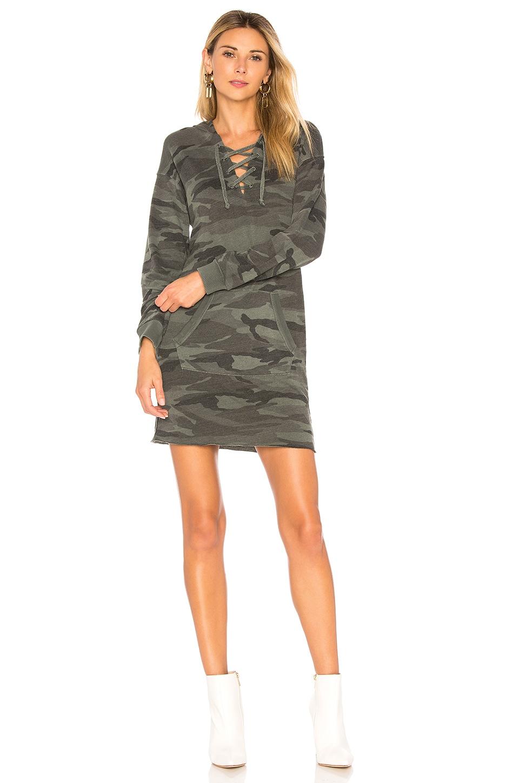 Camo Lace Up Hoodie Dress by Splendid