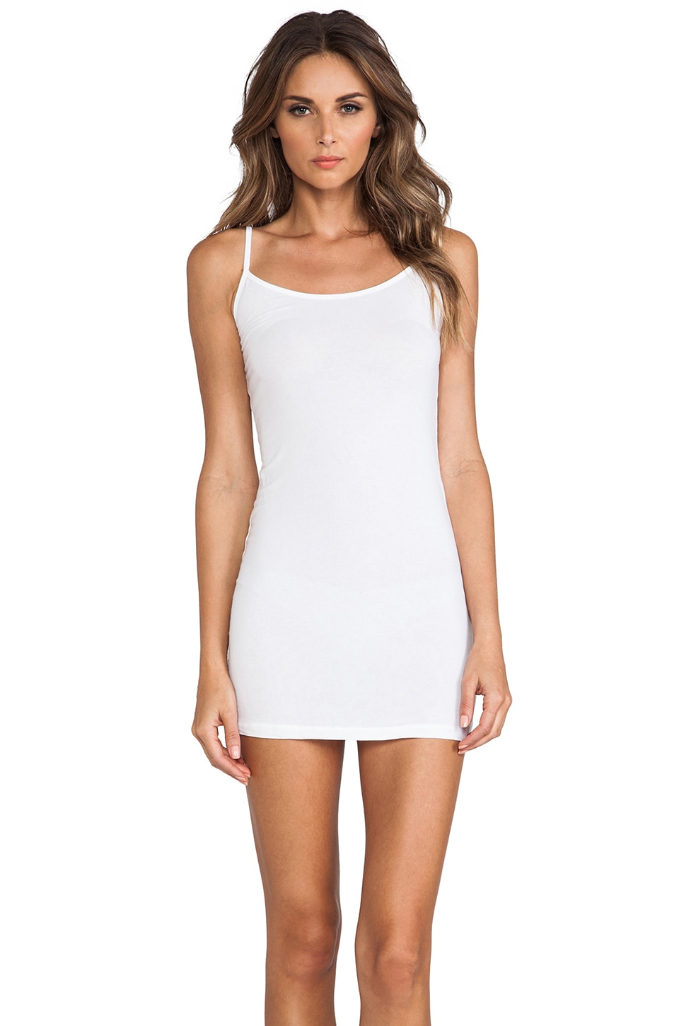 Splendid Layers Cami Dress in White