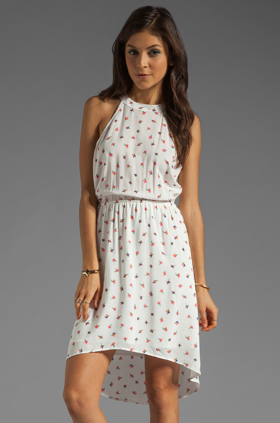 Splendid Parisian Tulip Dress in Soft White