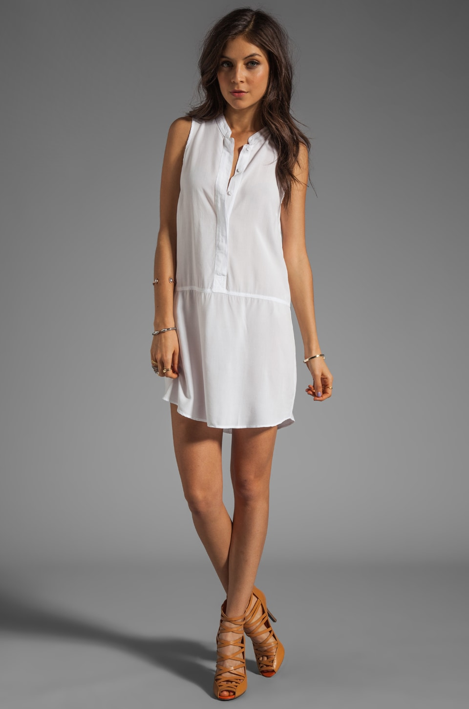 Splendid Tank Dress in White