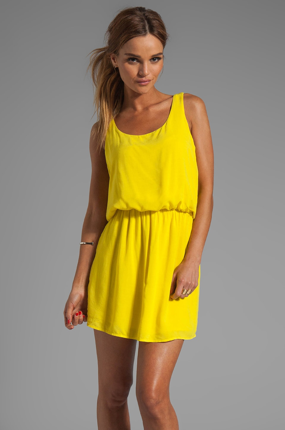 Splendid Tank Dress in Citrine
