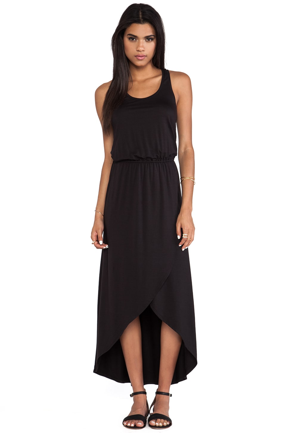 Splendid Hi-Lo Tank Dress in Black