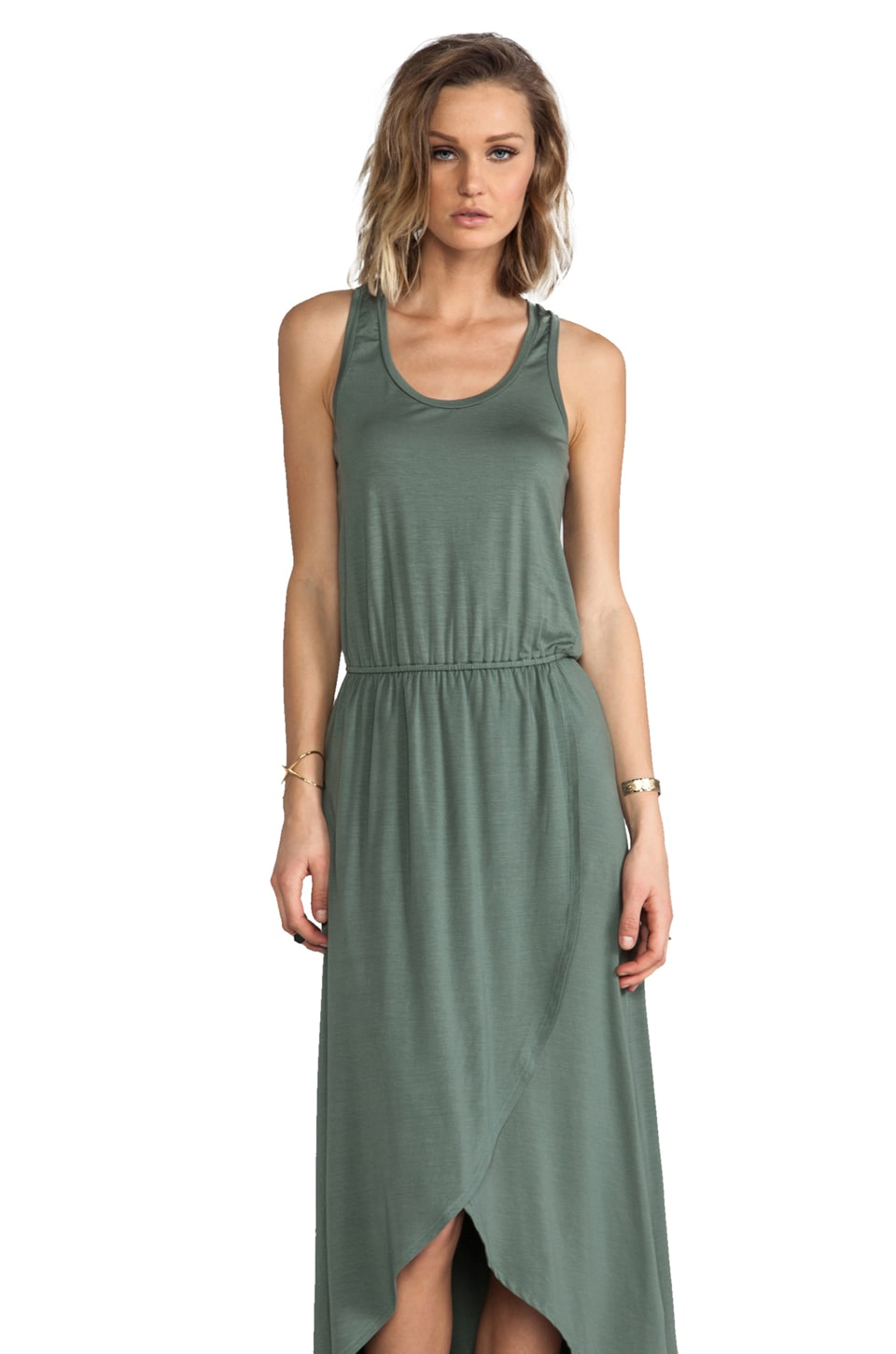 Splendid Hi-Lo Tank Dress in Camo Green
