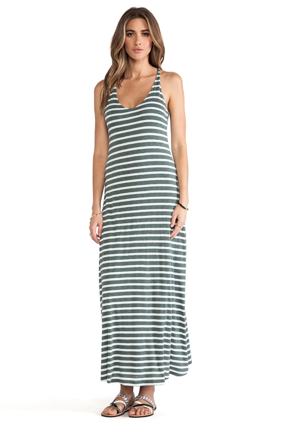 Splendid Mediterranean Stripe Maxi Dress in Camo