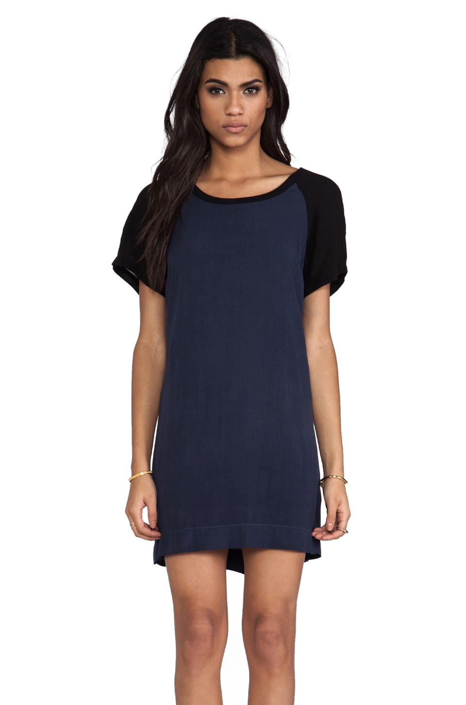 Splendid Color Blocking Dress in Navy
