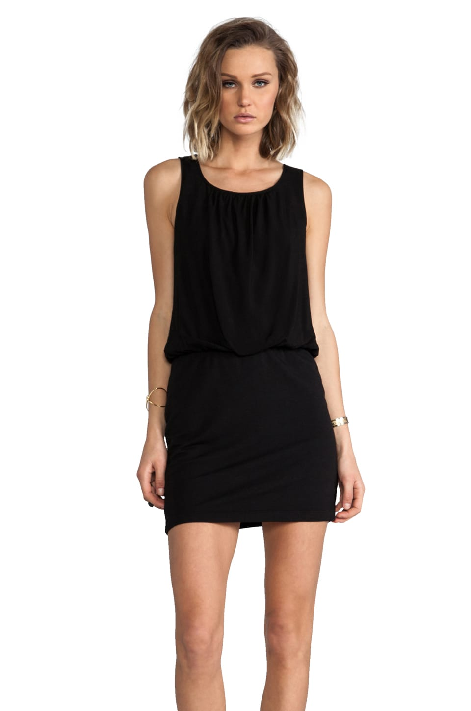 Splendid Rayon Sleeveless Dress in Black