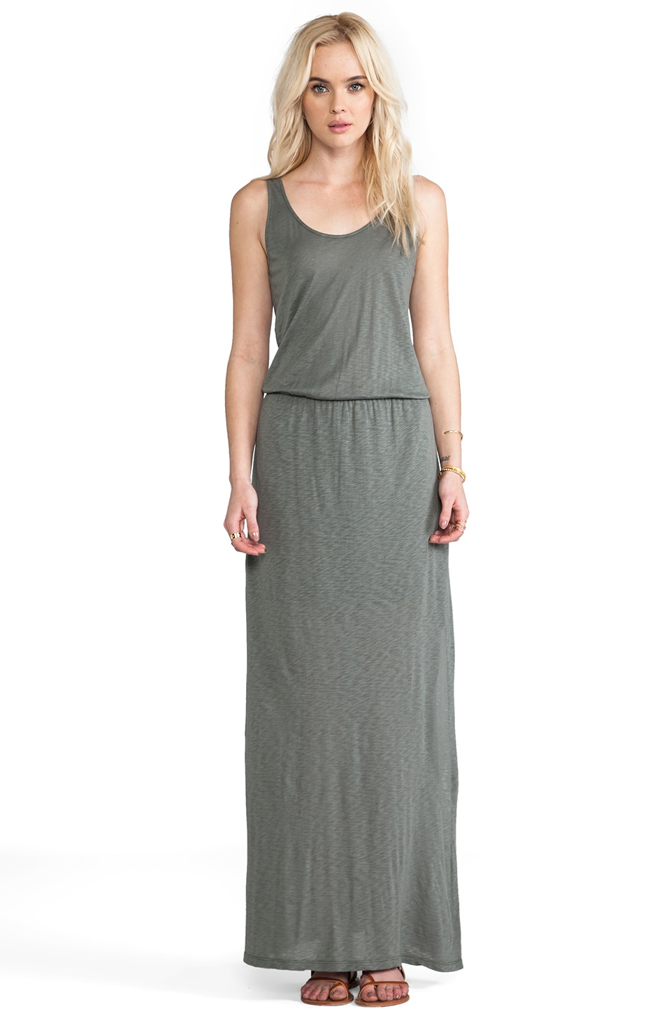 Splendid Maxi Dress in Olive Green