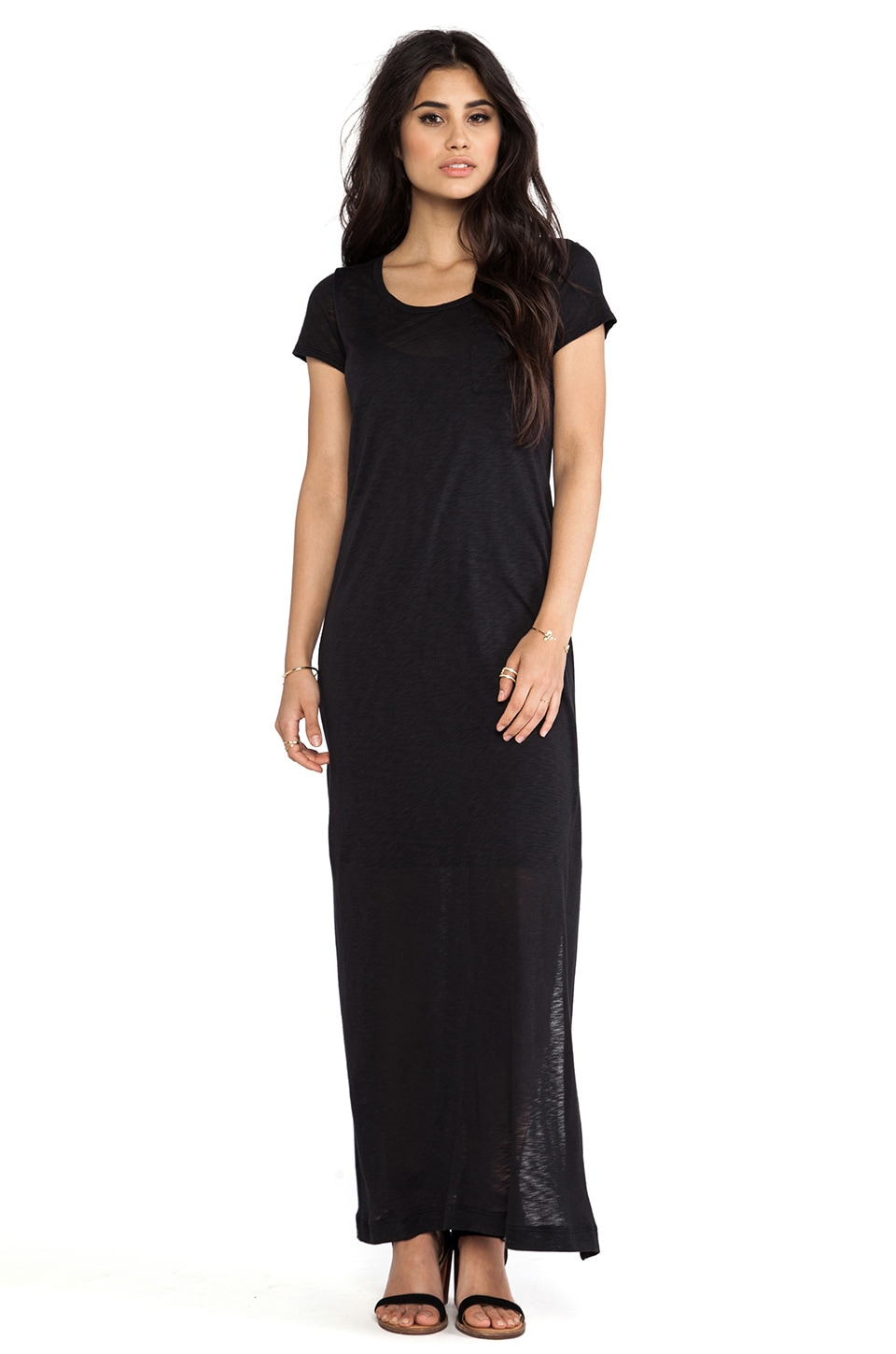 Splendid Always Tee Maxi Dress in Black