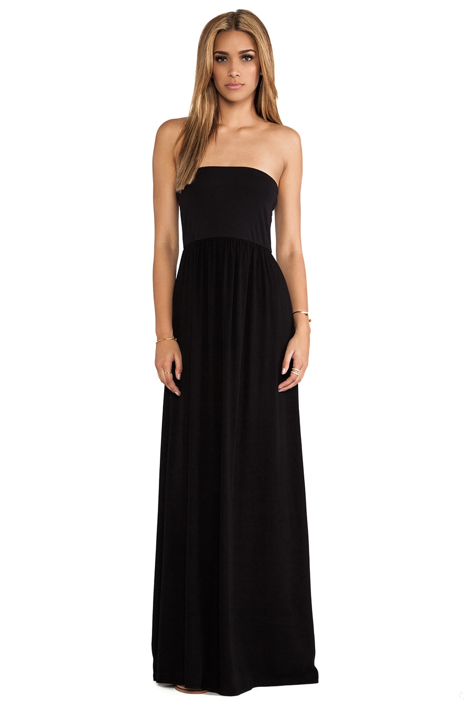 Splendid Strapless Maxi Dress in Black