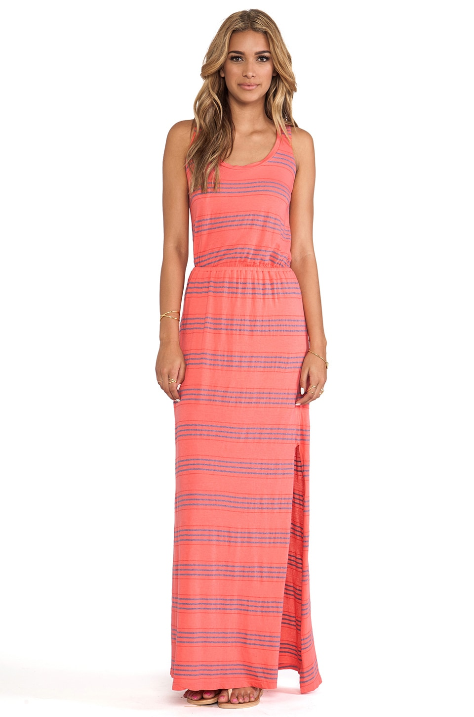 Splendid Maxi Dress in Coral Pink